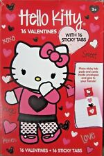 Hello Kitty 16 Pack Cute Valentine's Day Cards School Party w/ Sticky Tabs