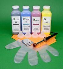 Ricoh Aficio CL1000N SP C210 C210SF 4-Color Toner Refill Kit w/ Hole-Making Tool