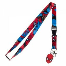 Marvel Spiderman Comic Lanyard with ID Holder & Charm New