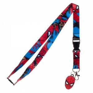 Marvel Spiderman Comic Lanyard with ID Holder & Charm New
