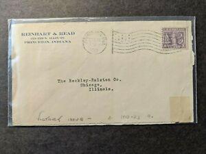 PRINCETON, INDIANA 1919 Postal History Cover #537