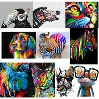 Paint By Number Kit Acrylic Oil DIY Canvas Painting Colorful Animals Home Decor
