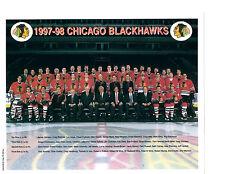 1997 CHICAGO BLACK HAWKS 8X10 TEAM PHOTO HOCKEY NHL HOF
