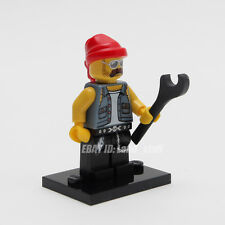 LEGO Minifigure Series 10 71001 Collectable #16 Motorcycle Mechanic New Sealed