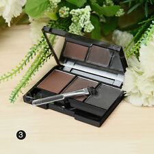 Fashion Cosmetic Kit Makeup Eyebrow Shading Powder Palette Eye Brow 3Color Brush
