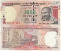 INDIA 1000 RUPEES GANDHI ISSUE OLD SERIES R.B.I. BANK NOTE IN UNC