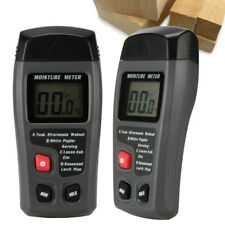 0-99.9% Digital Wood Moisture Meter Humidity Tester Timber Damp Hygrometer 2Pins
