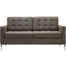 Mid Century Modern Danish Loveseat 2 seater Florence Sofa LC2 : Oatmeal