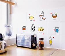 Cartoon Food Removable Decor Wall Sticker Decal Mural Kitchen Tile Dining Room