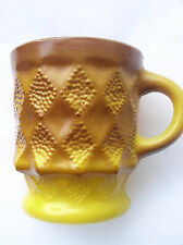 Fire King Coffee Cup Mug in the Kimberly pattern, Brown to Yellow color