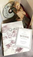 Lord of the Rings The Two Towers Smeagol Dvd Exclusive Mini Statue Dvd Book Coa
