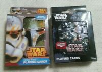 2 (NEW) STAR WARS Rogue One & Boba Fett Playing Cards in Collector's Storage Tin