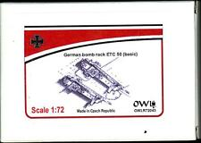 Owl Decals 1/72 Set of 4 German WWII ETC-50 BOMB RACKS (Basic Version) Resin Kit