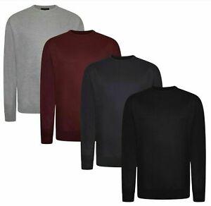 Mens Big King Size Jumper Long Sleeve Casual Sweater Sweatshirt Top 3XL 4XL 5XL