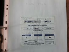 ticket billet football Finale coupe de France Montpellier / RC Paris 02/06/1990