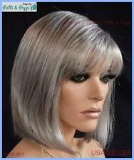 Blair Lightweight Open Cap Wig  Color 56 Grey Medium Bob USA Seller