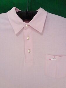 PETER MILLAR pink pima cotton men's polo golf shirt M