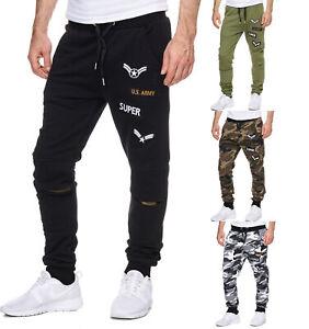 Trainingshose Jogginghose Sporthose Pants Fitness Camouflage Herren