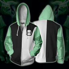 2020 Ben10 Print Hoodie Costume Zipper sweatshirts Unisex Jacket Coat