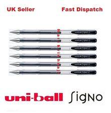 6 x GENUINE UNIBALL SIGNO FINE UM-100 ROLLER BALL PEN 0.7mm BLACK MITSUBISHI