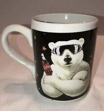 Coca Cola Coke Polar Bear mug cup 1999 sunglasses Gibson ceramic coffee tea