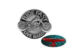 RIDE FAST - BIKER Pin Anstecker Anstecknadel Chopper Motorrad USA Harley Eagle