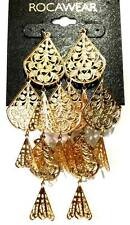 "ROCAWEAR Gold Tone (5"") Chandelier Fashion Earrings (MSRP: $18) - NWT"