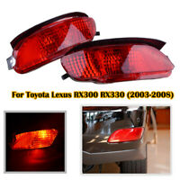 Red Len Rear Bumper Reflector Light lamp For Lexus RX300 RX330 RX350 RX400 04-09