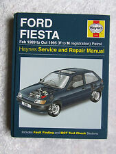 FORD FIESTA 1989 ~ 1995 1595 HAYNES SERVICE & REPAIR MANUAL