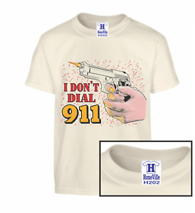 I don't dial 911 Self Defense Conceal Carry HoneVille Novelty T-shirt Adult