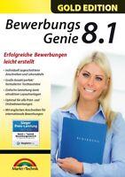 Bewerbungs Genie 8.1 Gold - Bewerbungen, Lebenslauf individuell erstellen