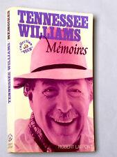 TENNESSEE WILLIAMS MÉMOIRES LAFFONT 1977 Photographies Théâtre Cinéma BRANDO