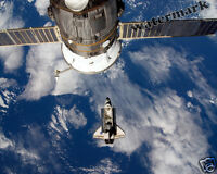 Historic Photograph NASA Space Shuttle Endeavour & Space Station  STS-123 11x14