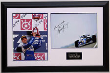 Damon Hill Williams Hand Signed World Champion Photo Framed 1996 Very Rare Large