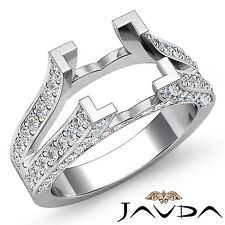 Diamond Princess Semi Mount women's Anniversary Pave Setting Ring Platinum 1Ct
