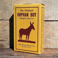 Vintage Original ORPHAN BOY TOBACCO SMOKING BOX Weisert Co 1930s NOS