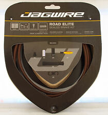 Jagwire Road Elite Polymer Coated Sealed Brake Cable Kit For Sram/Shimano Coffee