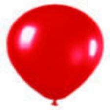 "100 Metallic Red Latex Balloons Helium Grade 11"""
