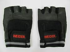 NEW Weider Premium Leather Spandex Mesh Training Weight Lifting Gloves Sz Small