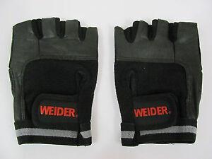 Weider Premium Leather Spandex Mesh Cross Training Weight Lifting Gloves Sz Sm