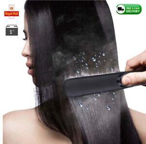 Professional Salon Steam Hair Straightener Ceramic Tourmaline Ionic Flat Iron