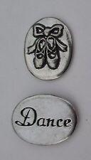 o Dance Ballet shoes spirit HANDCRAFTED PEWTER POCKET TOKEN CHARM basic coin