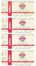 Phillies Ticket Stubs 1988 lot of 4 vs Giants Mets