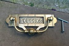 Vintage brass Letters letter box/plate with knocker