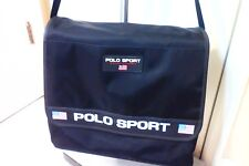 Ralph Lauren Polo Sport Black Messenger Shoulder Bag. Vintage 90s Flag Logo