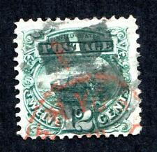 #117 VF with S.O.N. fancy cancel and part brite red NY C.D.S - More Prem Qual!