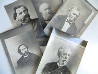 Lotto Foto Compositore Verdi Gounod Lalo Cesare C.1900