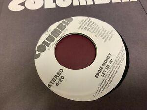 """Eddie Money LET ME IN 7"""" 1988 COLUMBIA 38-68739 DJ PROMO NEW"""