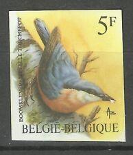 Belgique Belgium Oiseaux Sitelle Birds Vogel Non Dentele Imperf Proof ** 1987