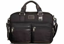 $785 Tumi Mens BLACK NYLON Alpha Andersen Brief Laptop BRIEFCASE WORK TRAVEL BAG